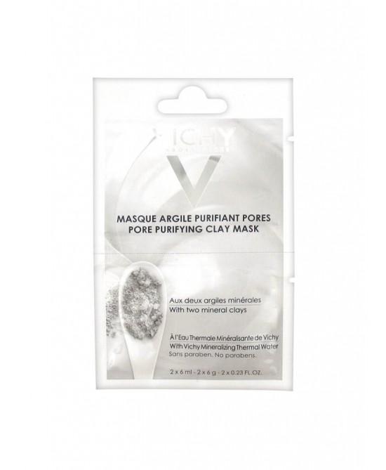 Vichy Maschera Argilla Viso Purificante 2 Bustine 6ml - farma-store.it