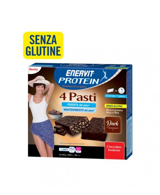 Enervit Protein 4 Pasti Dark Barrette Sostitutive Pasto 240 g