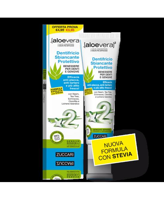 Zuccari Dentifricio Sbiancante Protettivo Con Aloe Tubo Da 100 ml - La tua farmacia online