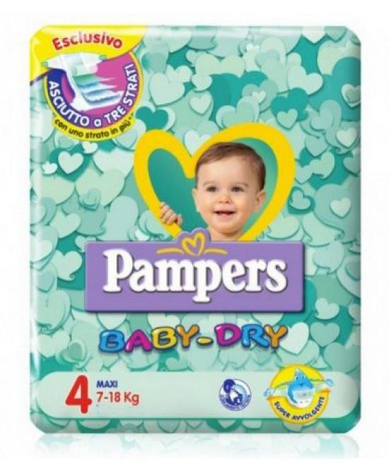 PAMPERS BABY DRY TRIO DWCT MAXI 58 PEZZI - Farmacia Bartoli