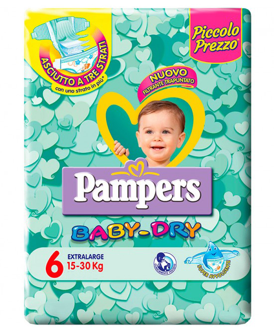 PAMPERS BABY DRY TRIO DWCT XL 45 PEZZI - Farmaedo.it