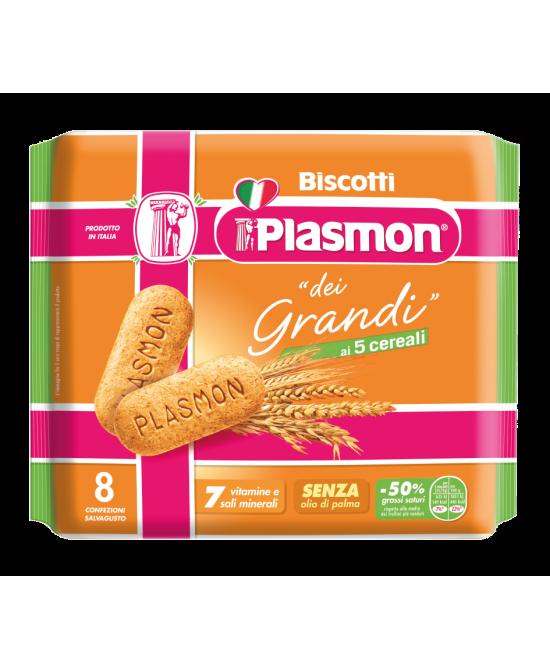 Plasmon Biscotto Dei Grandi  Ai 5 Cereali 8 Pezzi - Spacefarma.it