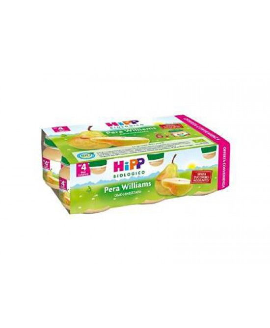 Hipp Omogeneizzato Pera Williams Multipack 6x80g - farmaciafalquigolfoparadiso.it