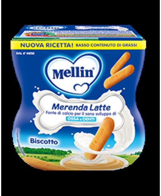 Mellin Merenda Latte E Biscotto 2x100g - Farmajoy