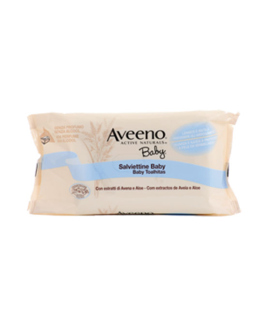 Aveeno Baby Wipes Salviettine 72 Pezzi - Farmastar.it