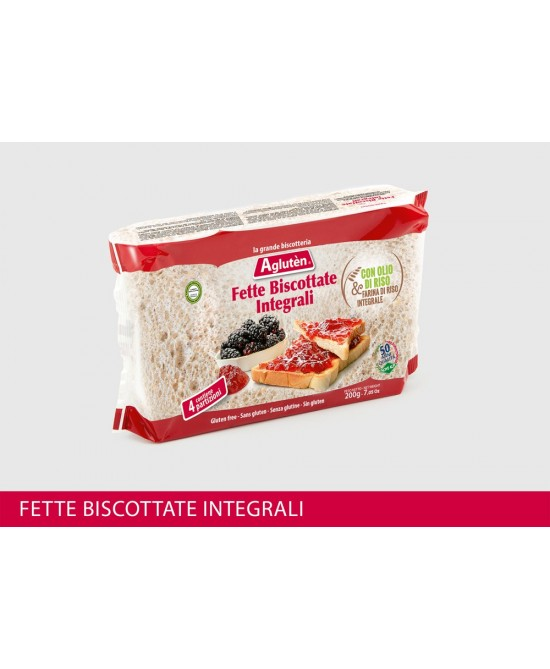 Agluten Fette Biscottate Integrali Senza Glutine 200g