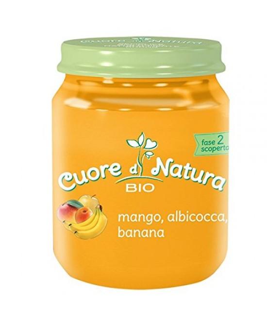 Cuore Di Natura Omogeneizzati Mango Albicocca & Banana Biologico 110g - Farmajoy
