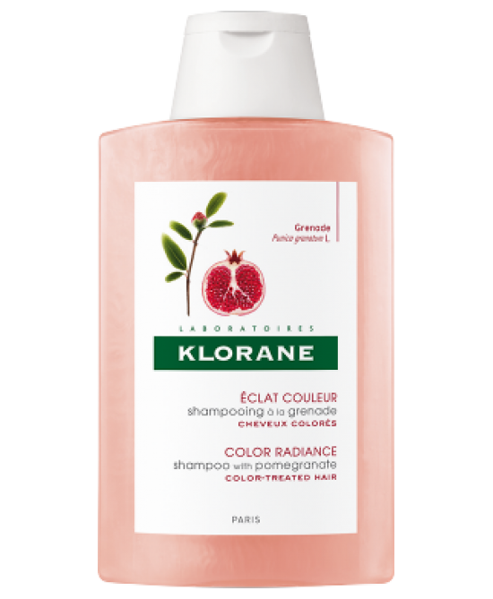 Klorane Shampoo Al Melograno Trattamento Per Brillantezza 200ml - farmaventura.it