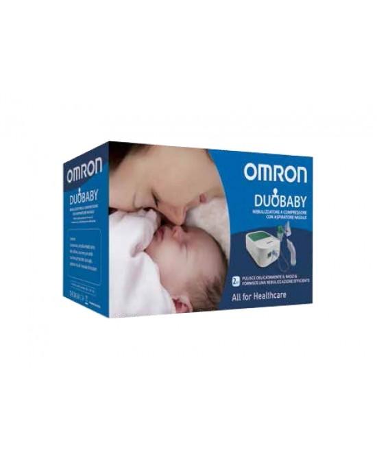 Omron Nebulizzatore Duo Baby Sistema Aerosol + Aspiratore Nasale - Farmacento