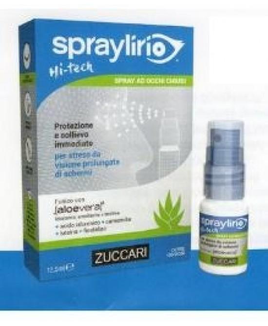 Zuccari Spraylirio Hi-tech Collirio In Spray Per Occhi Esposti A Schermi 12,5ml - Iltuobenessereonline.it