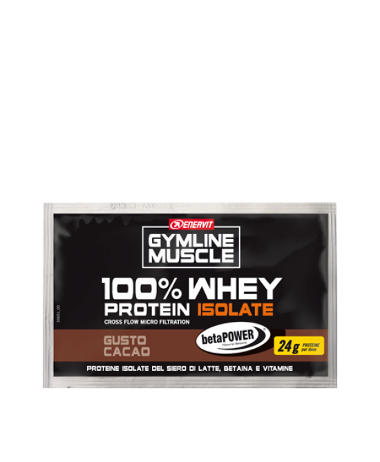 GYMLINE 100% WHEY ISOLATE BETAINA CACAO BUSTA 30 G - Farmacia Massaro