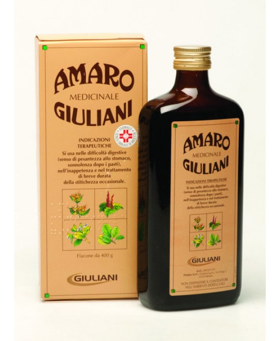 Giuliani Amaro Medicinale Flacone 400g - Farmacia 33