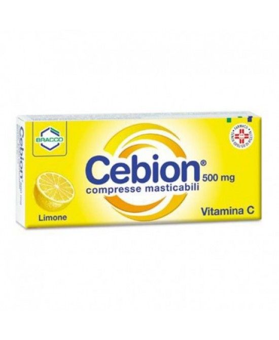 Bracco Cebion 500mg Compresse Gusto Limone 20 Compresse Masticabili - Farmaci.me