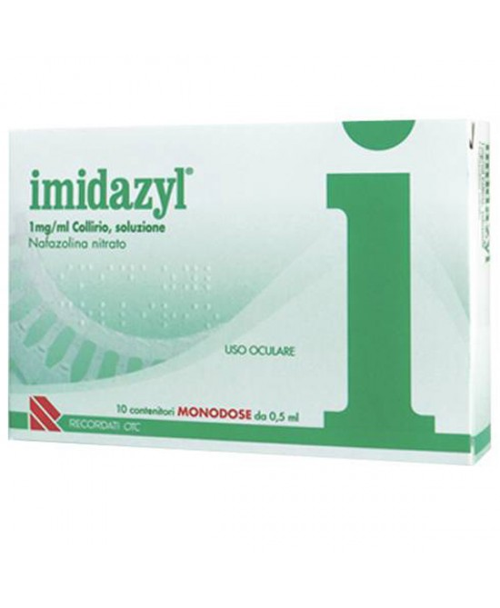 Recordati Imidazyl Collirio 1mg/ml 10 Flaconcini Monodose 0,5ml - Spacefarma.it