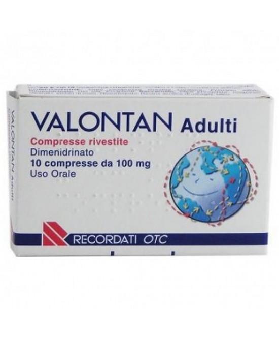 Valontan Adulti 100 mg Dimenidrinato Antinausea 10 Compresse Rivestite offerta