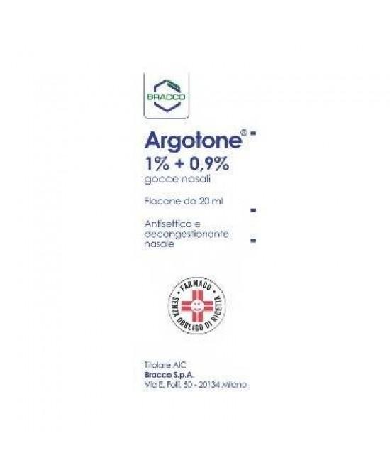 Argotone 1% + 0.9%  Gocce Nasali 20ml - Farmastar.it