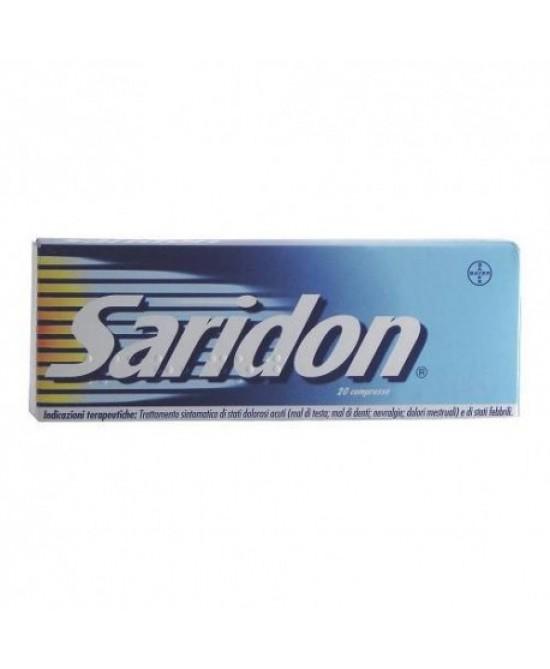 Saridon Paracetamolo 20 Compresse - Zfarmacia
