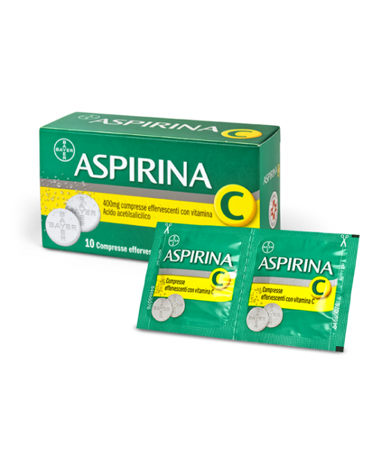 Aspirina C 400mg + 240mg Compresse Effervescenti Con Vitamina C 10 Compresse - Farmapage.it
