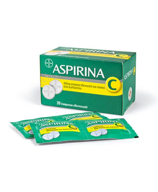Aspirina C 400 mg + 200 mg Compresse Effervescenti con Vitamina C 20 Compresse - Farmalilla