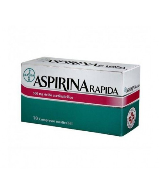 Aspirina Rapida 500mg 10 Compresse Masticabili - Farmafamily.it