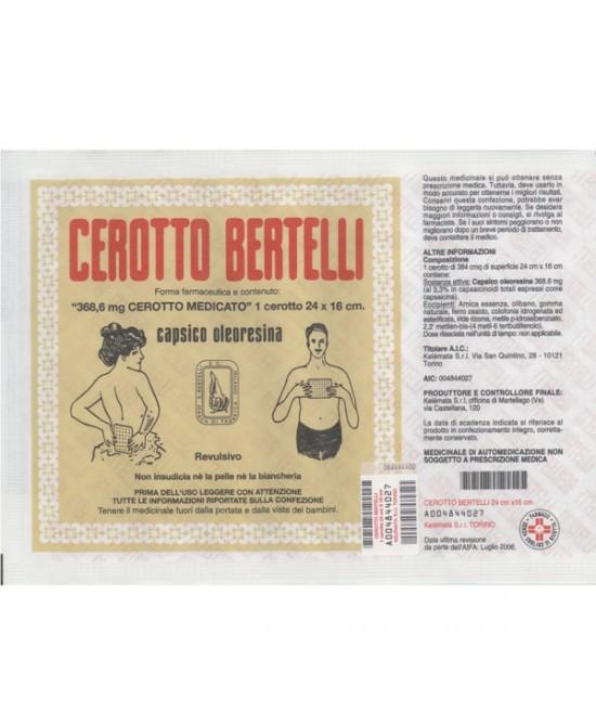 Kelémata Cerotto Bertelli Grande Uso Topico Per Dolori Articolari E Muscolari Cerotto 16x24cm - Zfarmacia