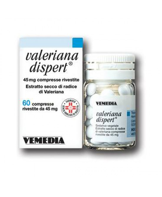 Vemedia Valeriana Dispert 45mg Blando Sedativo Per Favorire Il Riposo Notturno 60 Compresse Rivestite - Farmafamily.it