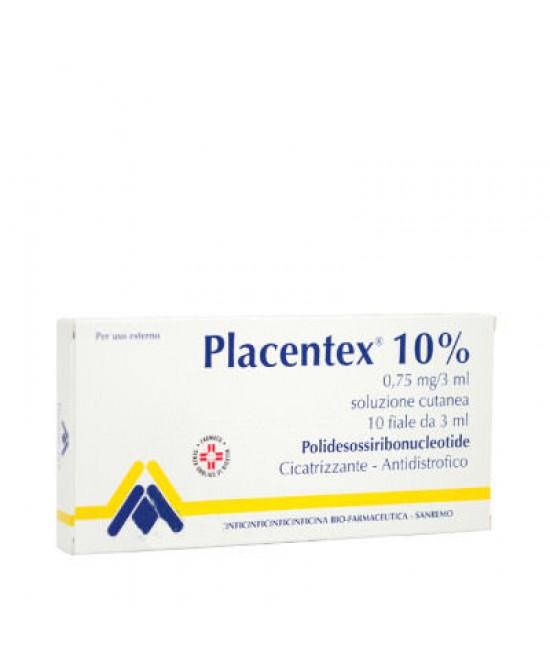 Placentex Soluzione Cutanea 10% Polidesossiribonucleotide 10 Fiale 3 ml offerta