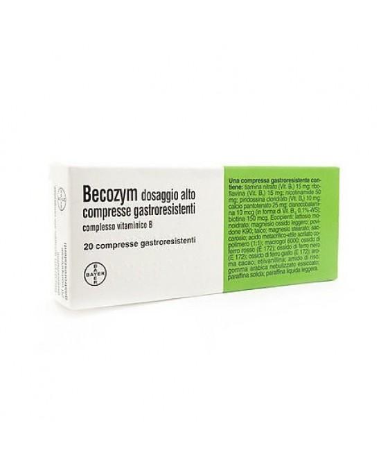 Becozym Dosaggio Alto 20 Compresse Gastroresistenti - Farmawing