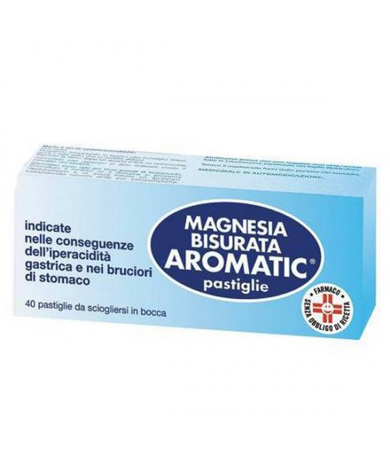 Magnesia Bisurata Aromatic Patologie Digestive 40 Pastiglie - latuafarmaciaonline.it