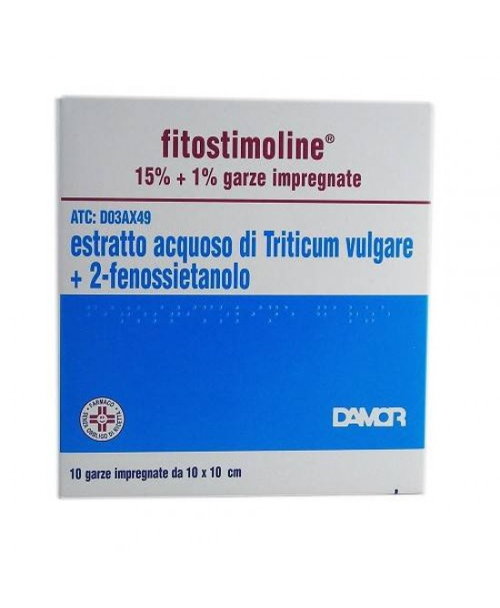 Fitostimoline 15%+1% 10 garze - Spacefarma.it