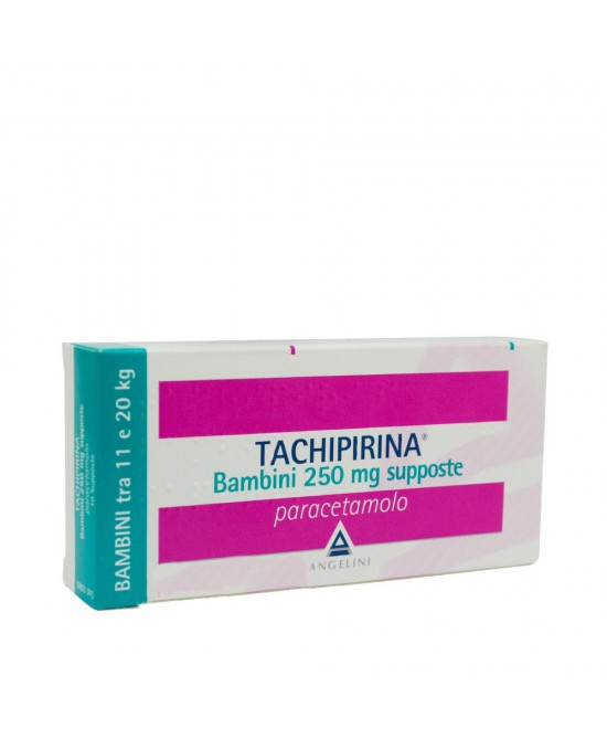 Angelini Tachipirina Bambini 250mg Supposte Per Febbre e Dolore 10 Supposte - Farmacia 33