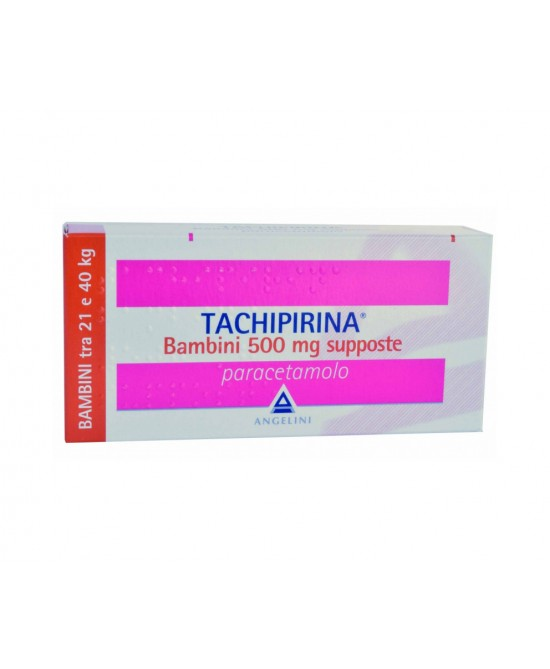 Angelini Tachipirina Bambini 500mg Supposte 10 Supposte - FARMAEMPORIO