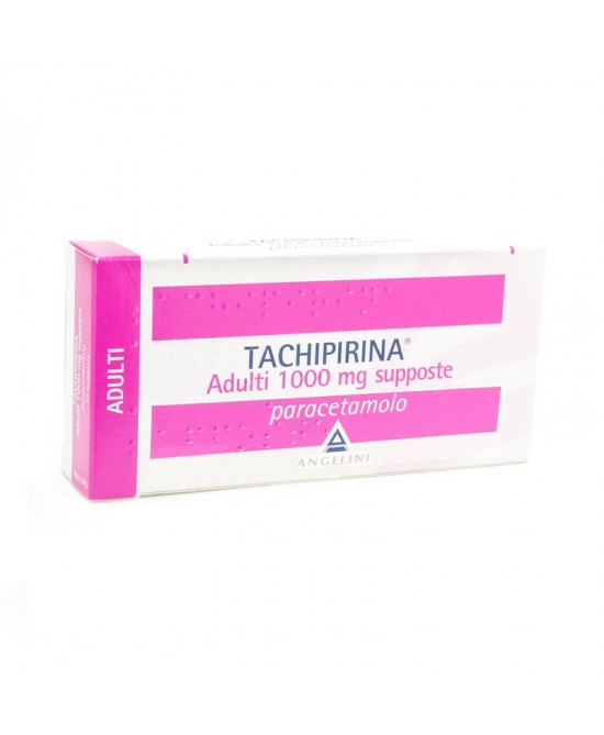 Angelini Tachipirina Adulti 1000mg Supposte Per Febbre E Dolore 10 Supposte - Farmaciaempatica.it