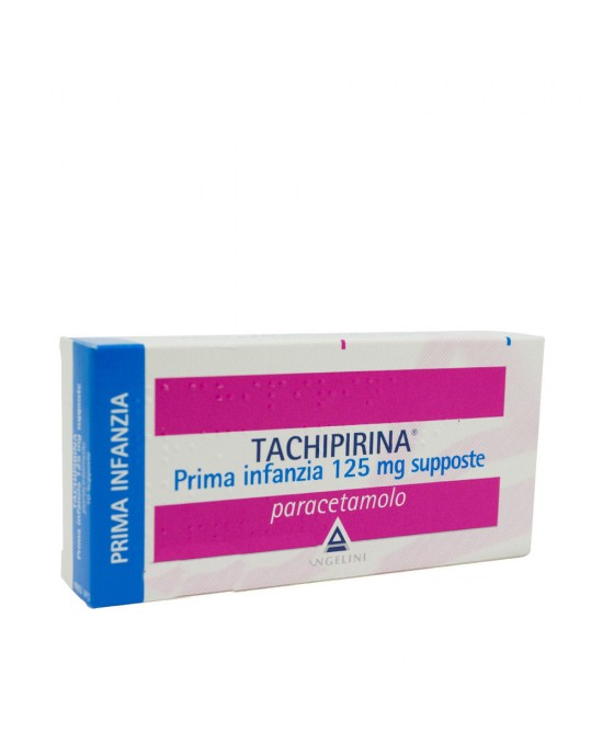 Angelini Tachipirina Prima Infanzia 125mg Supposte Per Febbre E Dolore 10 Supposte - Farmacia 33