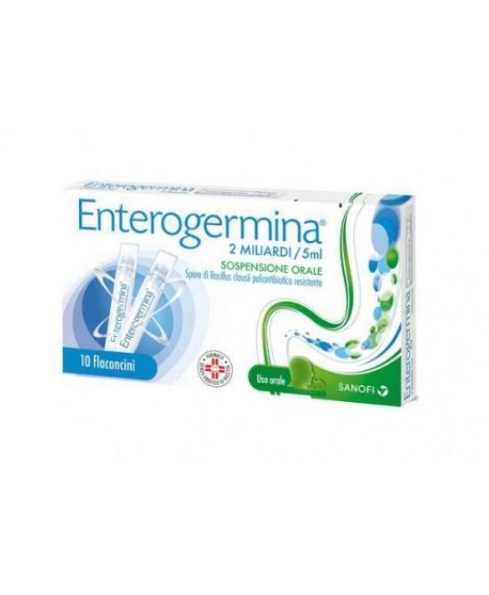 Enterogermina 2 Miliardi Sospensione Orale 10 Flaconcini Da 5ml - Farmastar.it