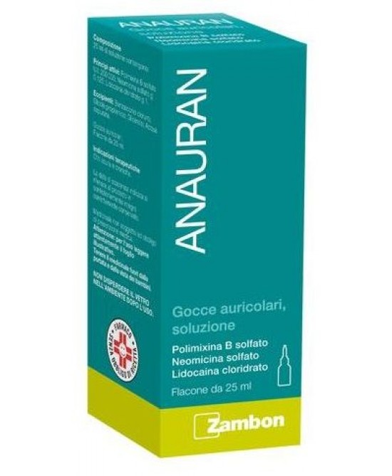 Anauran Gocce Auricolari Flacone 25ml - Farmastar.it