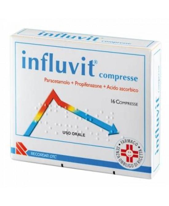 Influvit 150 mg + 300 mg + 150 mg 16 Compresse - Parafarmacia la Fattoria della Salute S.n.c. di Delfini Dott.ssa Giulia e Marra Dott.ssa Michela