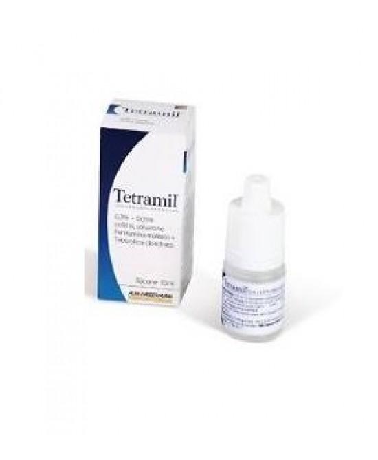 Teofarma Tetramil 0,3%+0,05% Collirio Per Occhi Arrossati Infiammati E Congiuntiviti Allergiche 10ml - Farmapc.it
