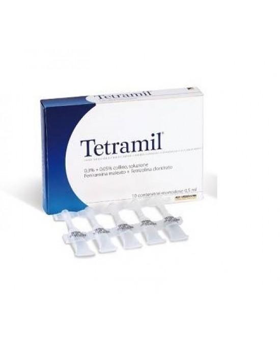 Teofarma Tetramil 0,3%+0,05% Collirio Per Occhi Arrossati Infiammati E Congiuntiviti Allergiche 10 Flaconcini Monodose - Farmaci.me
