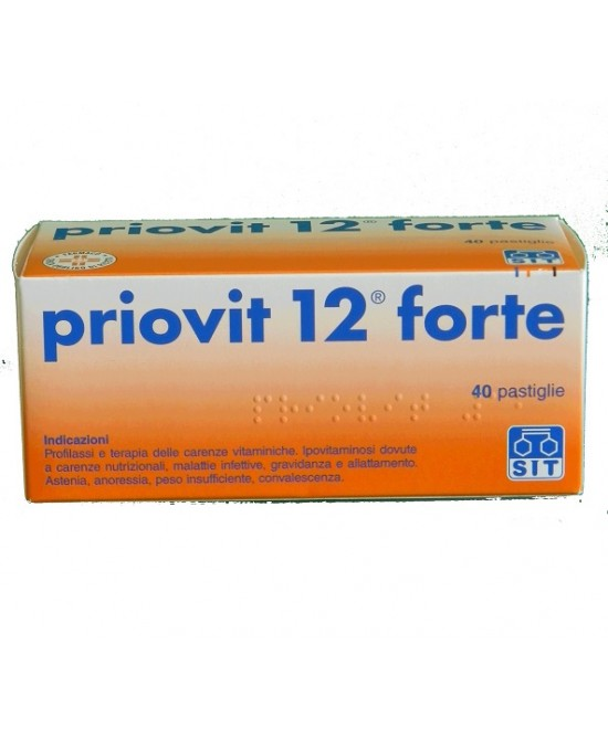 Priovit 12 Forte 3g  40 Pastiglie - Farmacielo