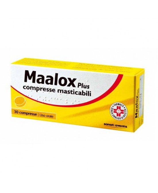 Maalox Plus 30 Compresse Masticabili - Farmawing
