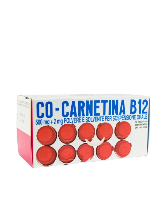 Co-Carnetina B12 500mg + 2mg Soluzione Orosolubile 10 Flaconcini 10ml -