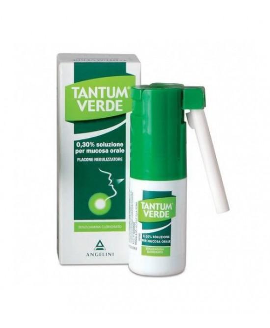 Angelini Tantum Verde 0,3% Nebulizzatore Per  Mal Di Gola E Irritazioni Della Bocca Spray 15ml - Farmastar.it