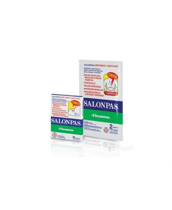 Salonpas Antidolorifico 2 Cerotti Medicati Larghi 13cmX8,4cm offerta