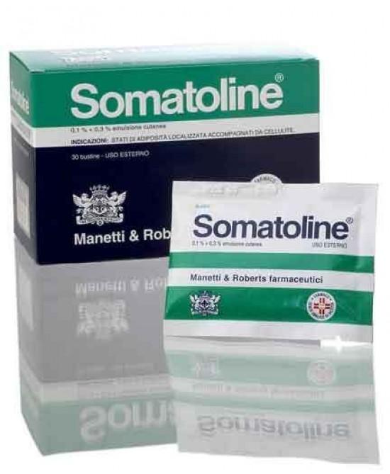 Somatoline 0,1% + 0,3% Emulsione Cutanea 30 Bustine Anticellulite  - Farmastar.it
