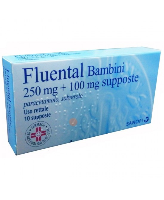 Fluental Bambini 250 mg + 100 mg Paracetamolo 10 Supposte offerta