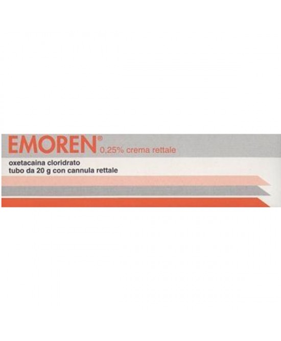 Centrofarma Emoren 0,25% Crema Rettale Trattamento Sintomatico Emorroidi Tubo 20g - Farmaci.me