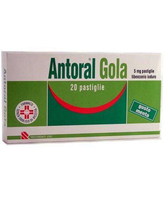 Antoral Gola 5mg Antisettico Cavo Orale Gusto Menta 20 Pastiglie