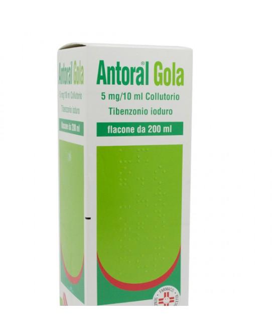 Recordati Antoral Gola Colluttorio 5mg/10ml Antisettico Cavo Orale Flacone 200ml - Farmastar.it