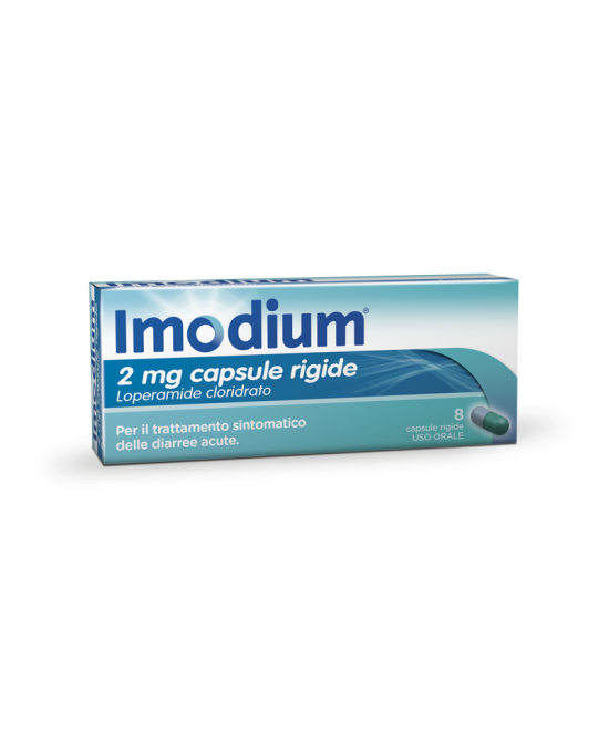 Imodium 2mg Integratore Alimentare 8 Capsule Rigide - Farmafamily.it